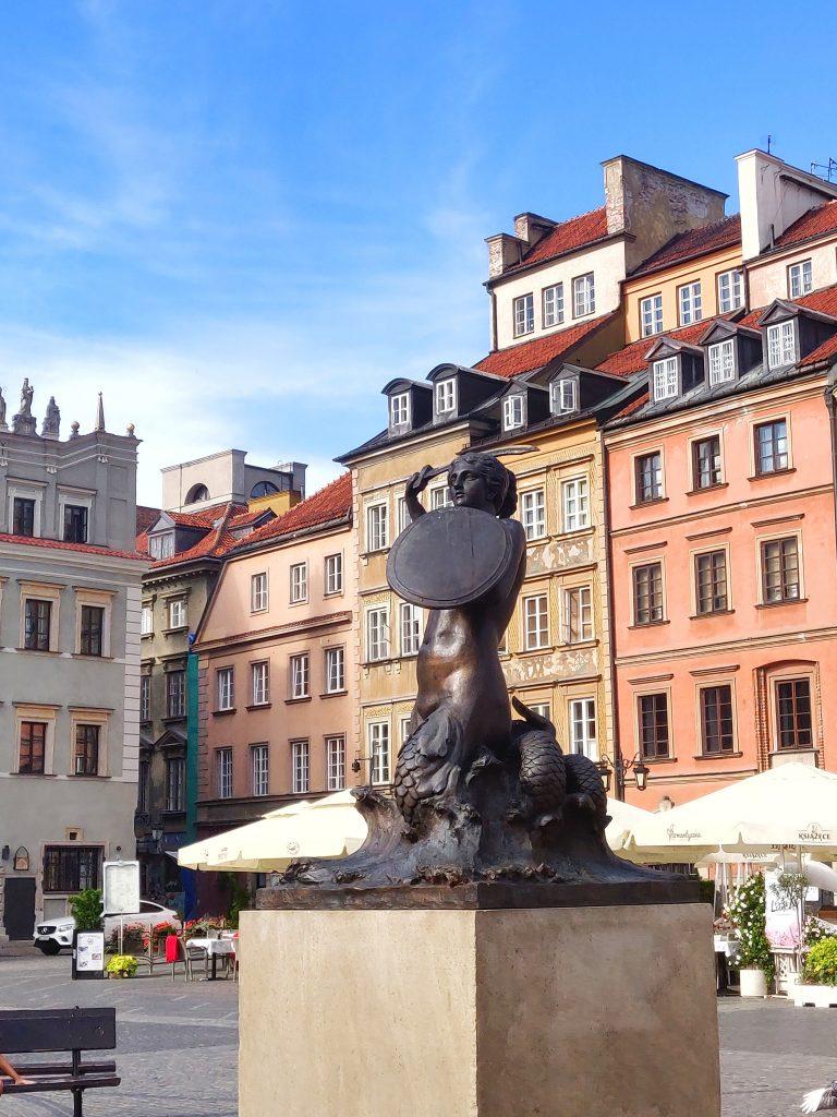 Statue de la Sirène de Varsovie